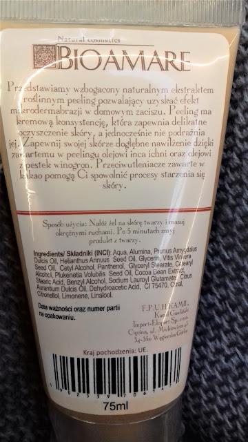Bioamare peeling do twarzy kakaowiec do skóry suchej lub normalnej