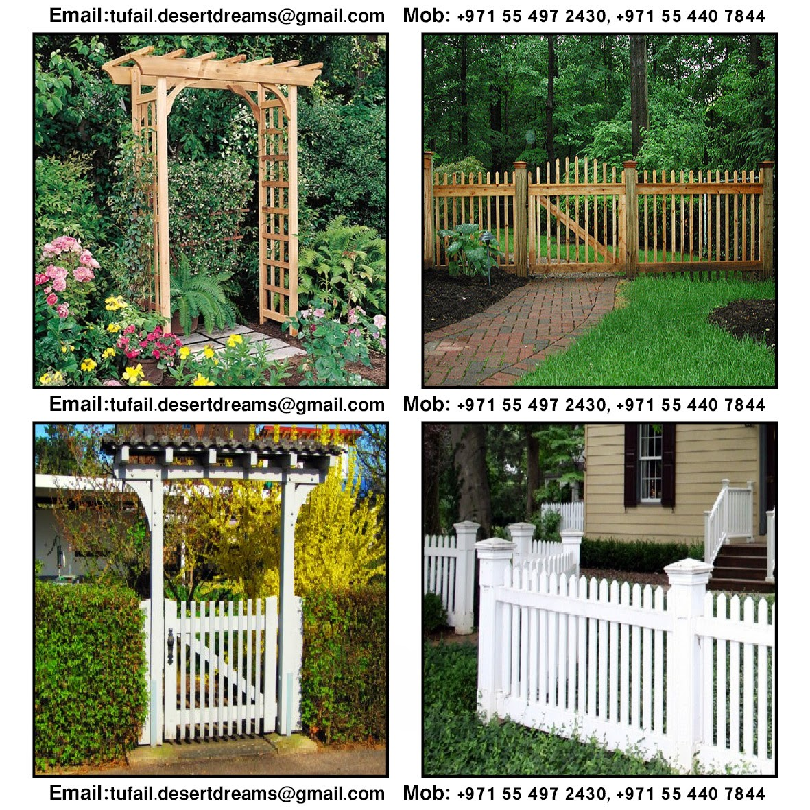 Garden Fences and Gates By Arab Garden In United Arab