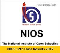 NIOS 12th Result 2017