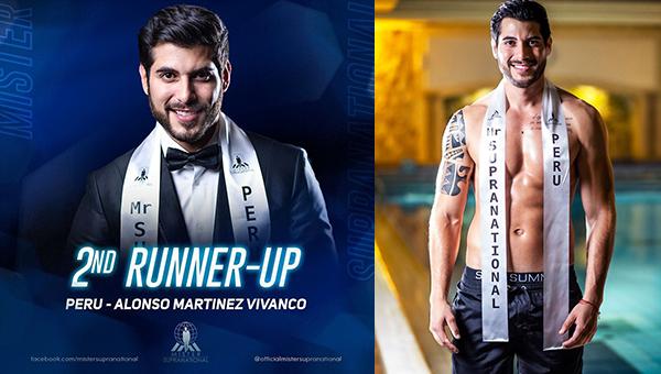 Alonso Martínez es segundo finalista en Mister Supranational 2019