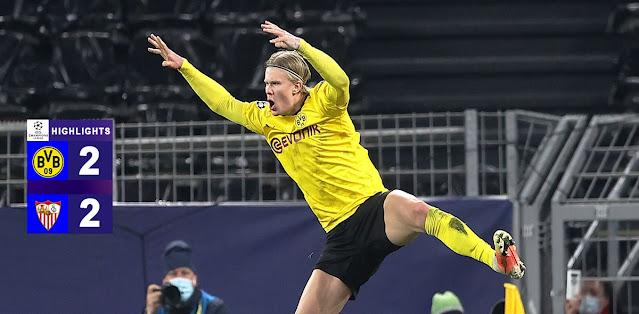 Borussia Dortmund vs Sevilla Highlights