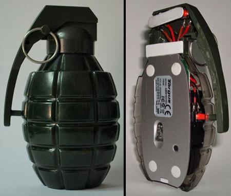 Diseño de mouse para computadora granada de mano