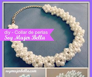 Collar de perlas inspiración Channel - DIY