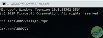 CMD Cek Masa Aktif Lisensi Windows