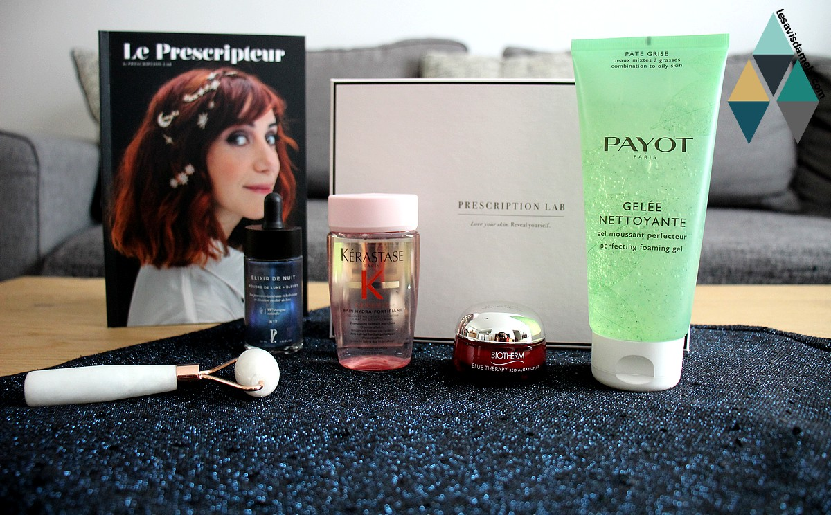 avis et test prescription lab box beauté sélection cosmic box