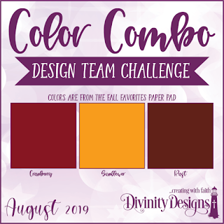 Divinity Designs LLC August Design Team Color Combo Challenge