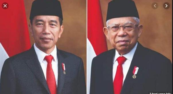 Download Foto Resmi Presiden dan Wakil Presiden Rl periode 2019-2024