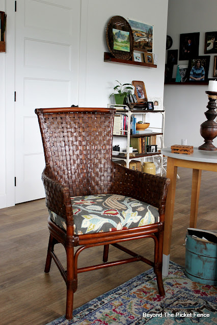 Adding Texture with a Vintage Woven Chair
