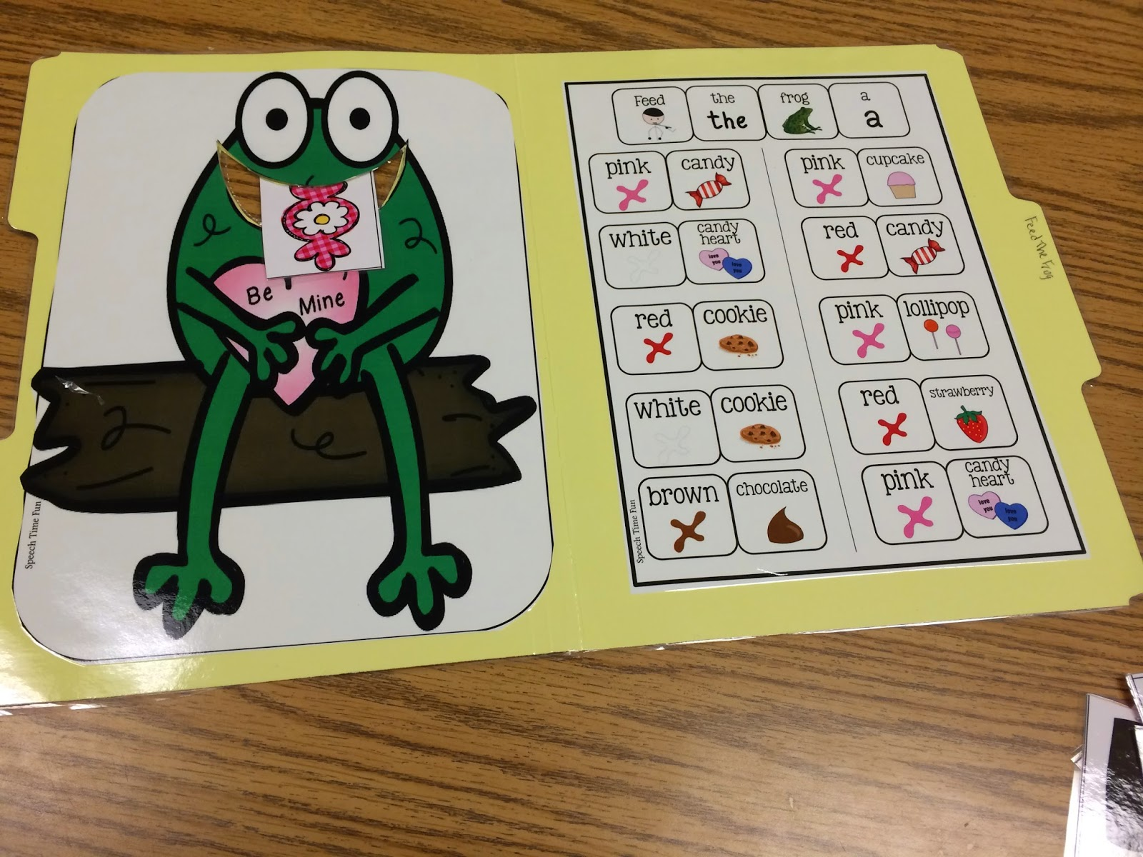 Speech Time Fun Feed The Valentine Frog File Folder Activity Great For Aba Following