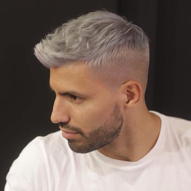 Photos: Man City's Aguero Shows Off New New Hair Style Ahead Of Manchester Derby