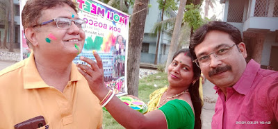 Holi 2021 with Don Bosco Mirpara Alumni Unit - DBLPP - Don Bosco Alumni Liluah Unit