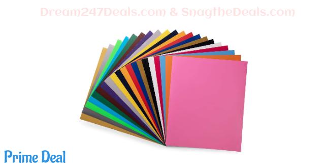 PU HTV Vinyl Bundle 20 Pack 20 Assorted Colors 12x 10 Sheets 50%OFF