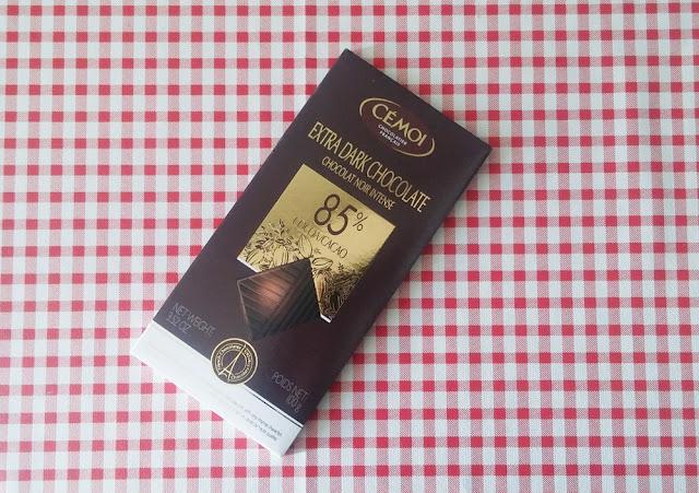 Chocolate negro com 85% de cacau, Cémoi.