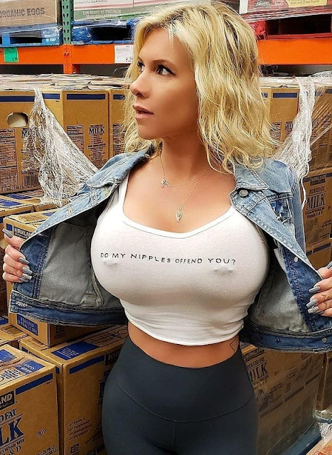 Do My Nipples Offend You tank top Big Tits Boob woman.  PYGear.com
