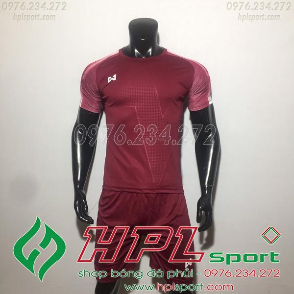 Áo bóng đá ko logo Warix HAT SG  Màu Đỏ