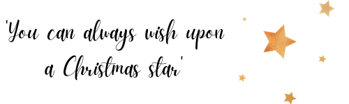 'You can always wish upon a Christmas star'