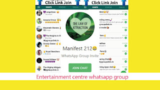 Entertainment centre whatsapp group