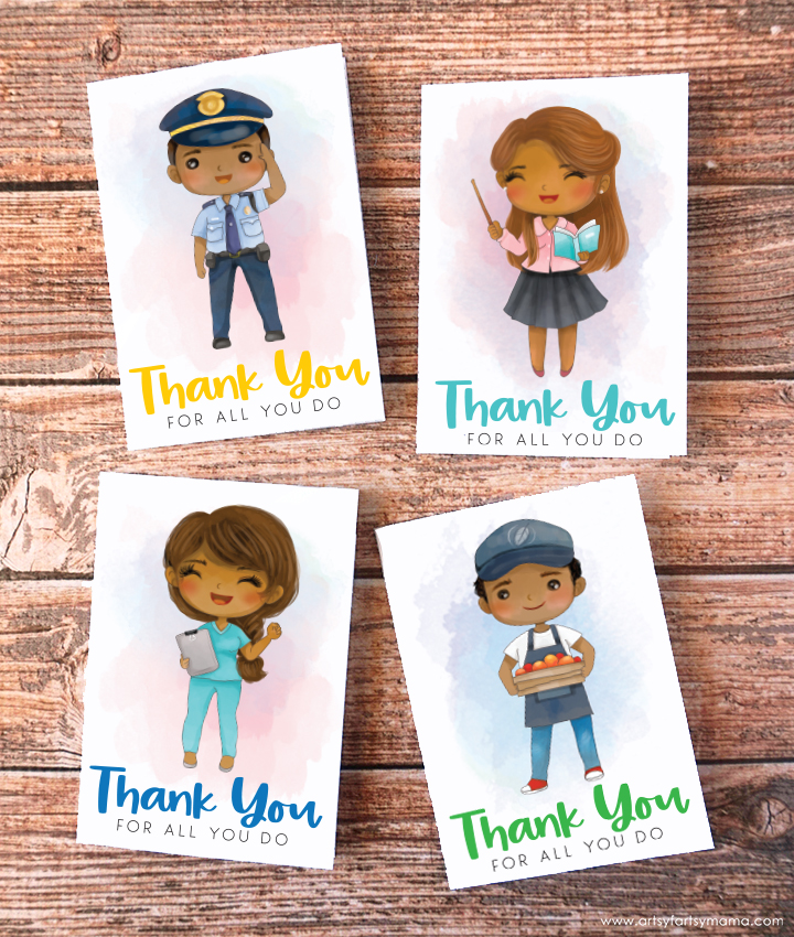 Free Printable Essential Worker Thank You Cards