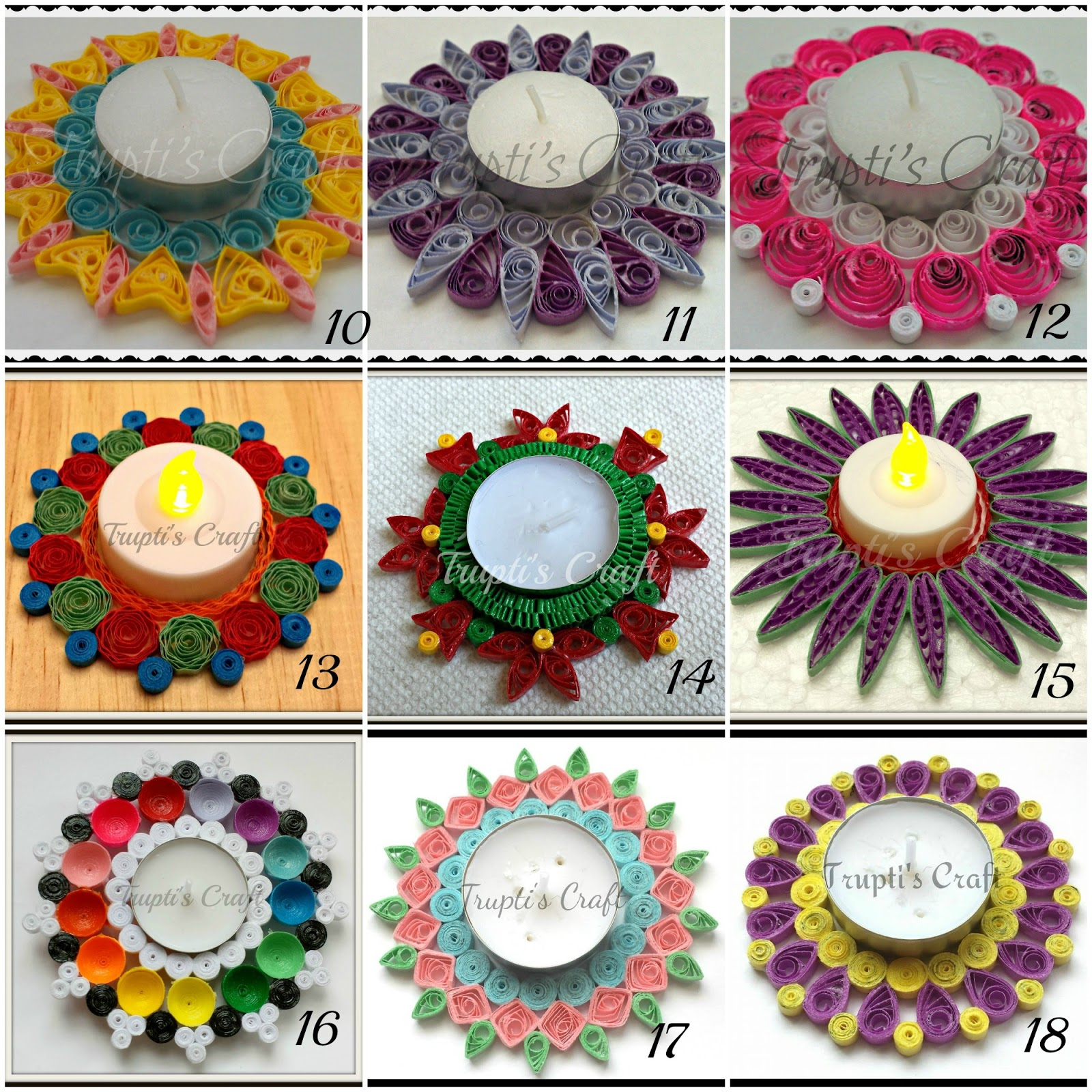 Trupti 39 s craft paper quilling candle holders car for Crafts and hobbies ideas