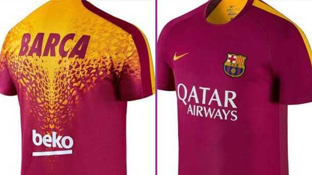 cd4a7e43a3d35 Así será la nueva camiseta del Barcelona para entrenamientos - FC ...