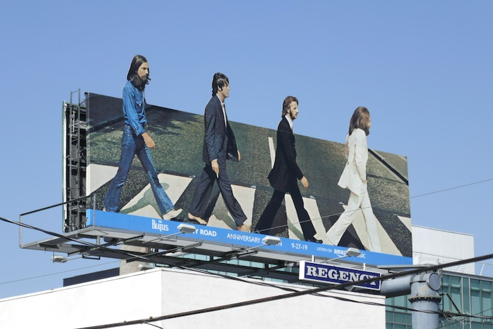 Beatles Abbey Road 2019 Anniversary Edition billboard