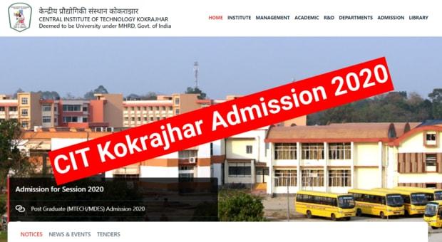 CIT Admission 2020