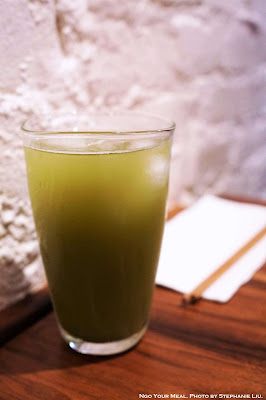 Organic Hot and Iced Green Tea at Raku in New York City