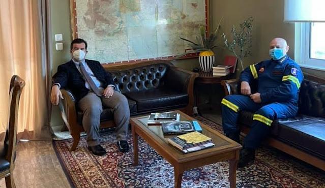 Συναντήσεις του Αντιπεριφερειάρχη Αργολίδας με τον Διοικητή Πυροσβεστικής και την Διευθύντρια των Φυλακών Τίρυνθας