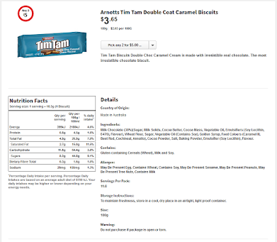 TimTam Double Coat Caramel (スーパのサイトより)
