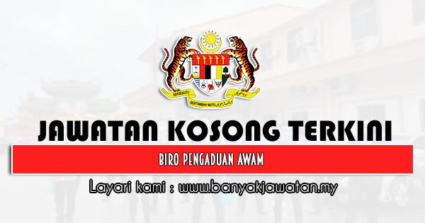 Jawatan Kosong 2021 di Biro Pengaduan Awam Negeri Pahang