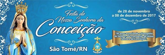 A cidade São Tomé  está em festa e celebra a Padroeira Nossa Senhora da Conceição,
