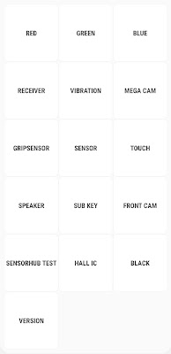Advanced Test Menu of Samsung A50