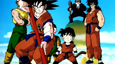 you better believe that's Krillin being blocked by Goku