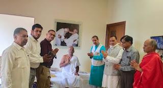 श्री मोहनखेड़ा महातीर्थ में विज्ञान एवं प्रौद्योगिकी मंत्री ओम सकलेचा का हुआ आगमन