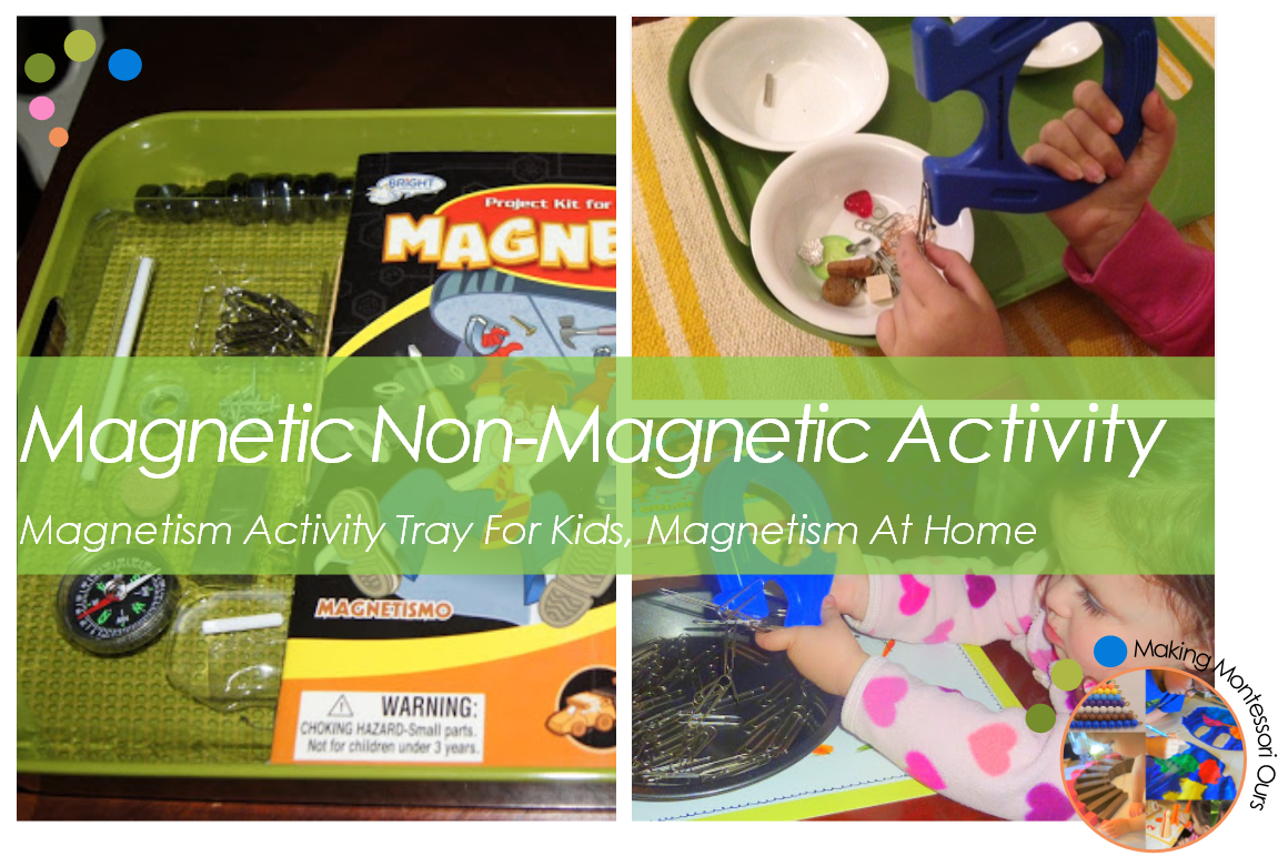 Magnetic Amp Non Magnetic Activity For Kids Magnetism