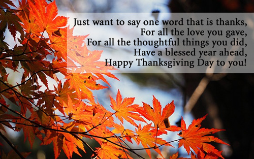 Happy Thanksgiving Day 2018 Saying