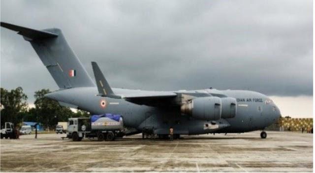 जम्मू-कश्मीर सरकार के अनुरोध पर अमरनाथ यात्रा के श्रद्धालुओं को घाटी से बाहर भेजने के लिए IAF C-17 भेजा गया।