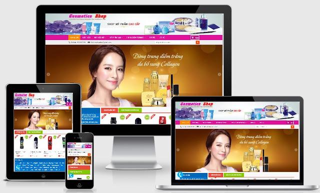 Template blogspot bán hàng mỹ phẩm đẹp 2020 - Ảnh 1