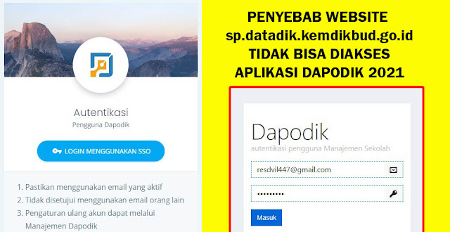 Penyebab Website sp.datadik.kemdikbud.go.id Verifikasi Akun PTK Tidak Bisa di Akses