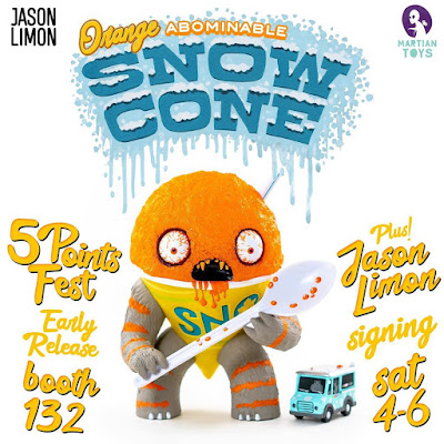 Five Points Festival 2019 Debut Abominable Snow Cone Orange Flavored Vinyl Figure by Jason Limon x Martian Toys