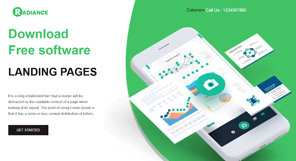 Radiance Landing Page Html5 Template