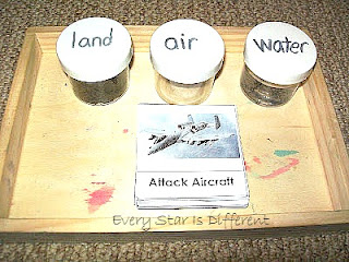 Land, Air and Water Sort with Military Vehicles