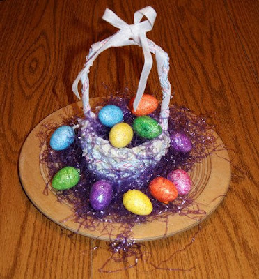Frugal Crafts at BetterBudgeting: Easter Baskets with Recycled Drinking Straws