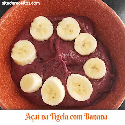 Açaí na Tigela com Banana