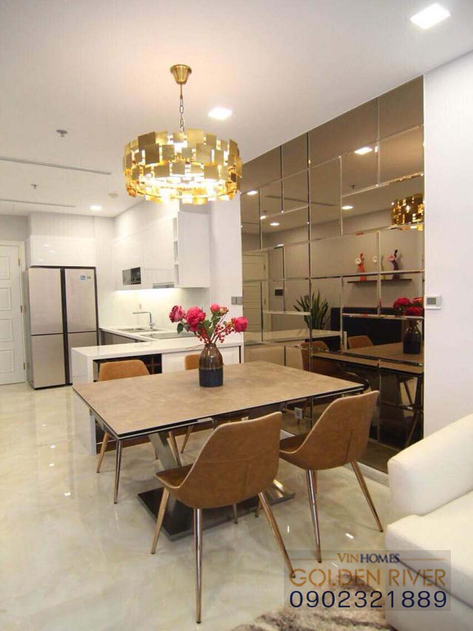 Vinhome Ba Son cho thuê căn hộ 51m2 nội thất cực đẹp - hình 6