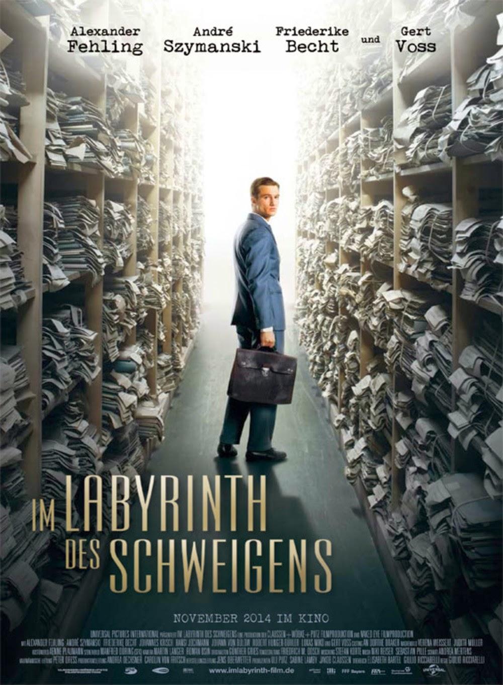 Affiche allemande du Labyrinthe du silence