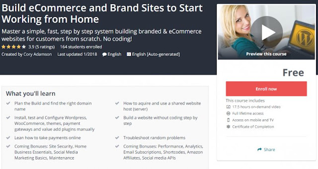 [100% Free] Build eCommerce and Brand Sites to Start Working from Home