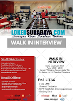 Walk In Interview di PT. Erajaya Swasembada Tbk. Surabaya Januari 2020