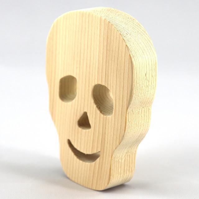 Handmade Wood Halloween Skull Cutout