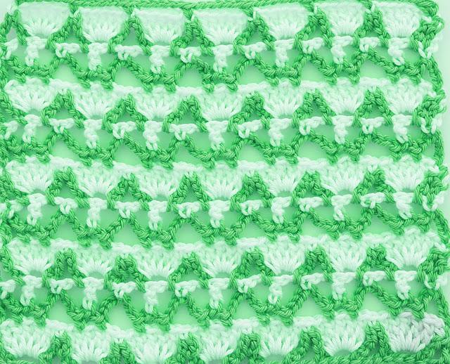 4 - Crochet Imagenes Puntada combinada dos colores a crochet y ganchillo por Majovel crochet